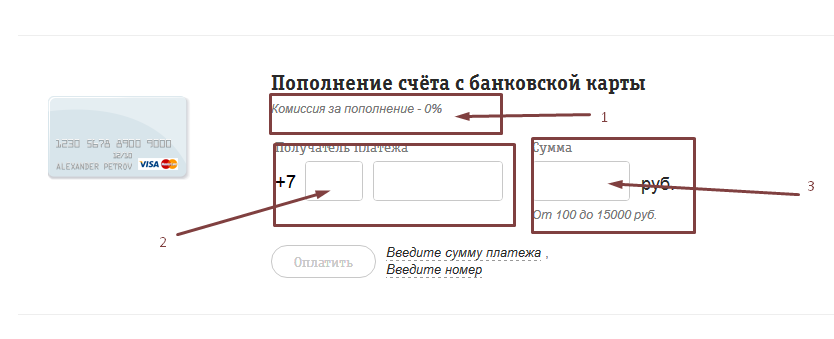 Как пополнить баланс Билайн картой без комиссии